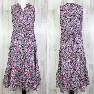 Nordstrom NWT Silk Watercolor Floral Tiered Dress